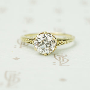 Vintage 1 carat Old Euro Diamond Solitaire