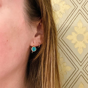 Green and Blue Specimen Turquoise Ear Drops