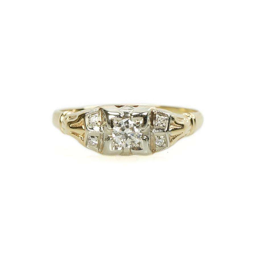 Vintage Silver Diamond Engagement Rings