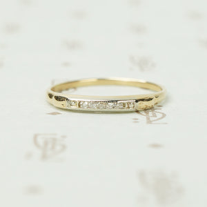 Funky Table Cut Diamond 2 Tone Band