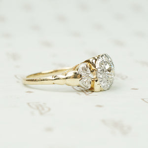 Vintage 1930's 2 Tone Gold Engagement Ring