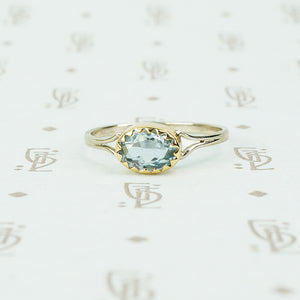Gorgeous Oval Aquamarine Ring in Recycled Gold