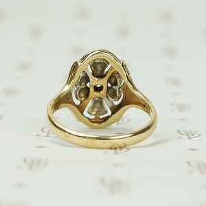 Vintage 2 Tone Gold and Diamond Ring