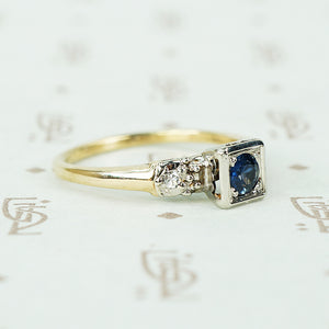 Vintage Sapphire Engagement Ring Circa 1940