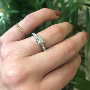 Classic Platinum 1940's Diamond Engagement Ring