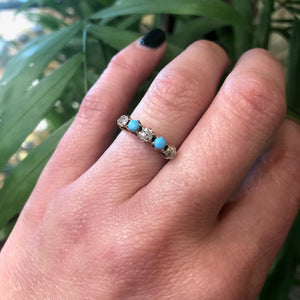 Fancy Business Diamond and Turquoise Band