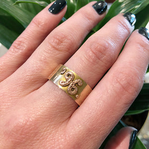 1896 Date Ring Rose and Yellow Gold