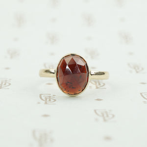 Oval Rose Cut Garnet Solitaire by GSL