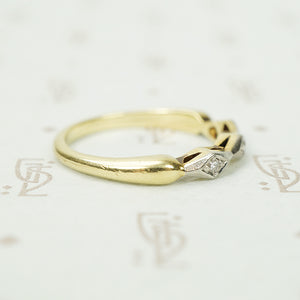 Geometric Two Tone Diamond Band