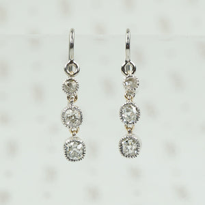 Lumiére Triple Drop OMC Diamond Earrings