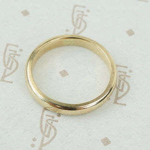 Vintage Heavy Yellow Gold Wedding Band
