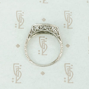 Edwardian Platinum Filigree OEC Diamond Beauty
