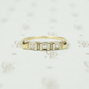 Distinctive Vintage Diamond Band