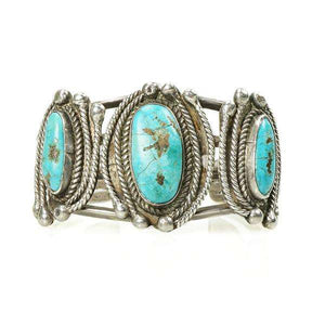 Vintage Native American Turquoise Cuff Big and Bold