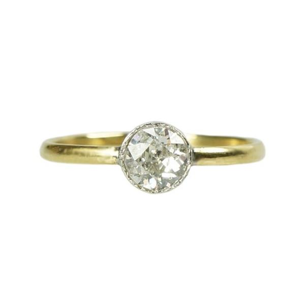 Orbit OEC Solitaire 18k Yellow Gold and Platinum - Gem Set Love