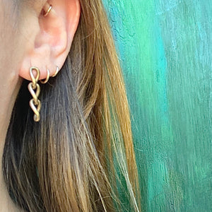 Vintage Gold Chain Earrings