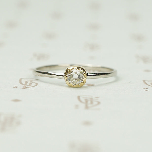 The Chunky Old Mine Cut Diamond Solitaire