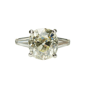 Four Carat OMC Diamond Engagement Ring