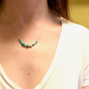 The Turquoise and Gold Beauty Necklace by brunet