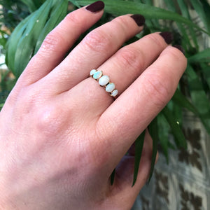 Dreamy Vintage Five Stone Opal Ring