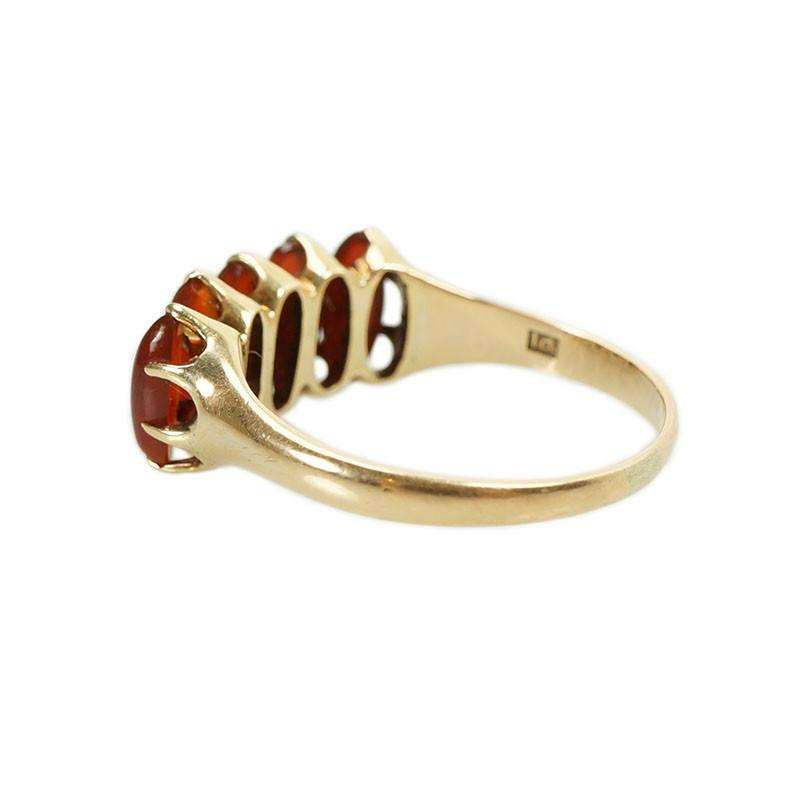 Beautiful Victorian Gold Ring with Carnelian Gem Set Love