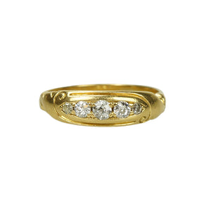 Art Nouveau gold and Diamond Band