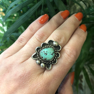 Vintage Turquoise Silver Ring