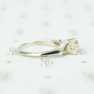 Delightful OEC Diamond White Gold Engagement Ring