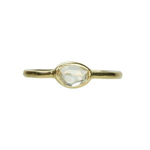 Unique Pale Yellow Rose Cut Sapphire Ring