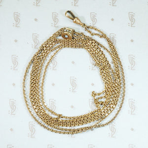 Elegant Opal and Pearl Slide Chain