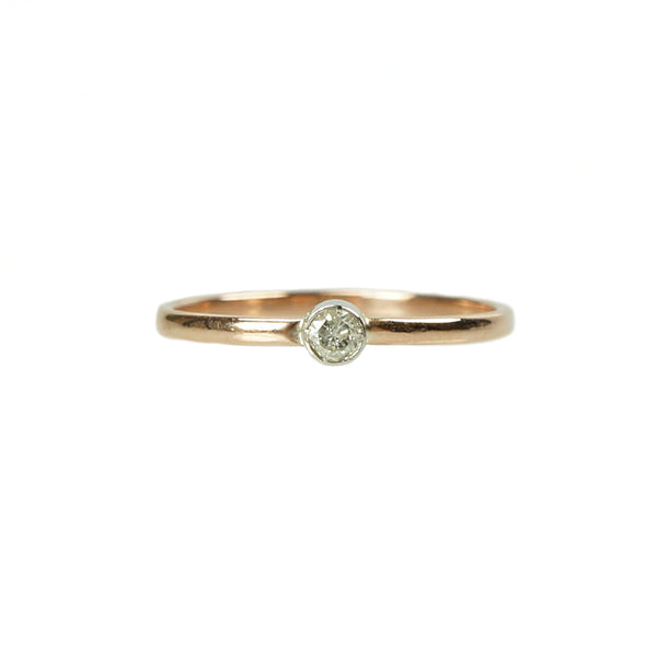 Orbit Rose Gold and Platinum Ring - Gem Set Love