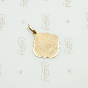Adorable Rose Gold Enameled Ivy Leaf