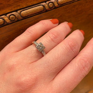 Timeless 1940s Two-Tone Diamond Ring