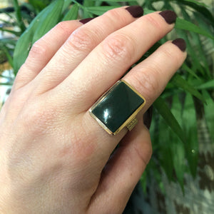 The Victorian Gold Bloodstone Statement Ring