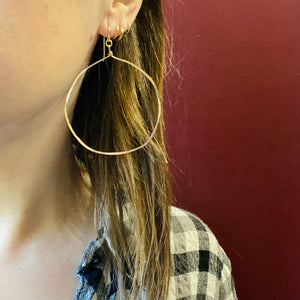 Artisan Gold Filled Hammered Hoops by Brin