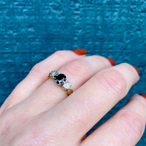 Vintage 18k Sapphire and Diamond Ring