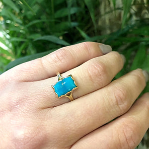 Sleeping Beauty Specimen Ring In Recycled 18k Gold