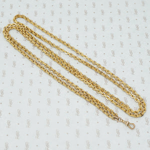 Long victorian guard chain 9ct gold with dog hook