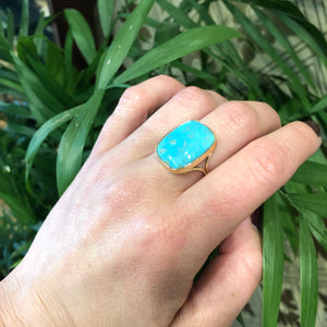 The Golden Matrix A Specimen Turquoise Ring