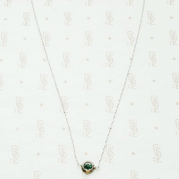 Emerald O White Gold Necklace by brunet