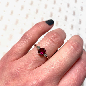 Simply Pretty Ruby and Diamond Engagement Ring