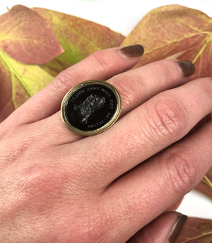 Antique Tassie Intaglio Ring with a Judge Guilty! You call that Guilty?