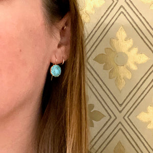 Sky Blue Turquoise Specimen Drop Earrings