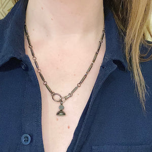 Edgy Chain with Faceted Gunmetal Links
