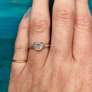 Stunning Yellow Cushion Cut Diamond Engagement Ring