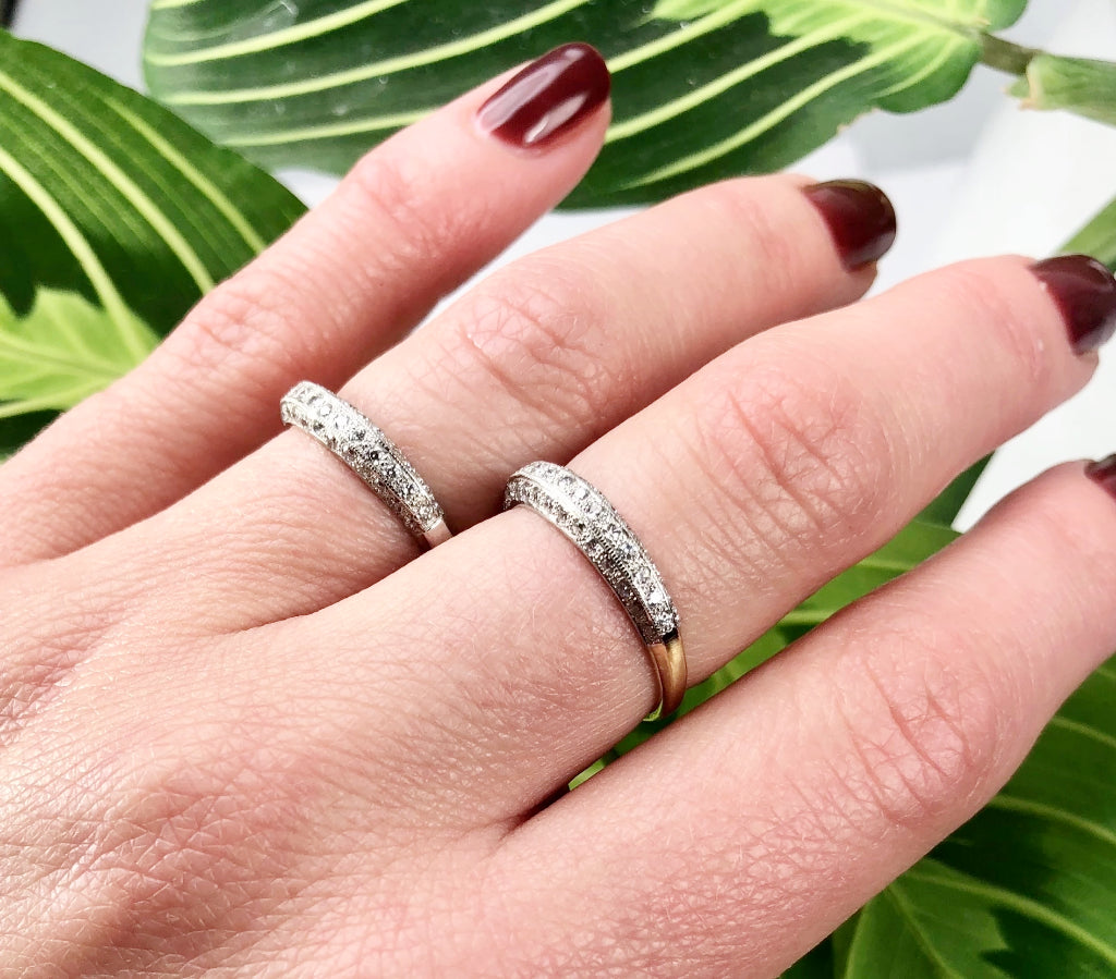 Shop Custom and Vintage Wedding Bands | Gem Set Love