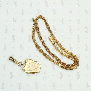 Gorgeous Vintage Chain with Detachable Locket with locket detached.