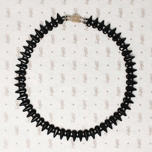 Dark Glamour Czech Glass Bead Choker
