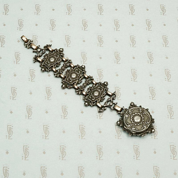 Hungarian Gothic Revival Watch Pull & Locket Fob