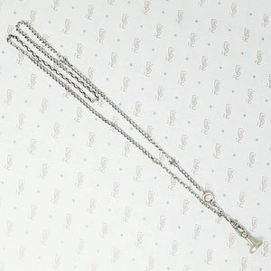 French Sterling Chain with Fleur de Lis Detail